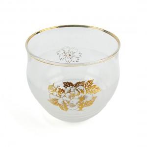 Ly Thủy Tinh Vẽ Vàng - Nhật - 7.5 x 7 cm - 12777