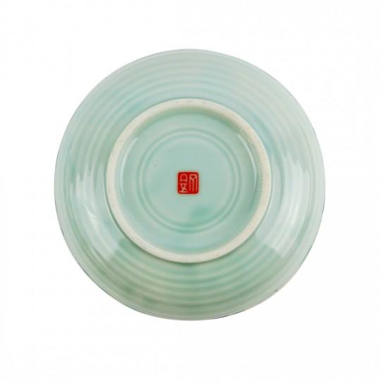 Tô Sứ Ngũ Sắc Viền Socola Có Triện – Nhật – 15 x 6 cm – 44937