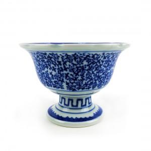 Chén Sứ Chân Cao Men Lam - Nhật - 15 x 10 cm - 431034