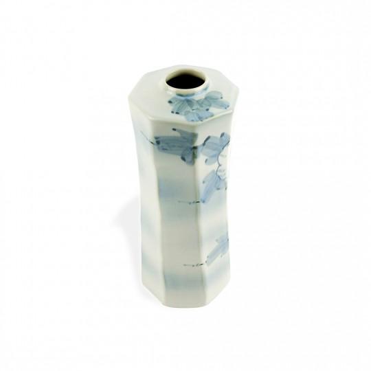 Bình Hoa Sứ Men Mới  Vẽ Tay Có Triện – Nhật – 10 x 25 cm – 51970