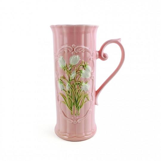Bình Cắm Hoa Sứ Mỏng Có Tay Cầm Handmade Kyoei – Nhật – 10 x 23.5 cm – 511073
