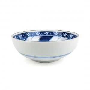 Tô Sứ Men Lam Viền Socola Có Triện - Nhật - 16 x 6 cm - 442169