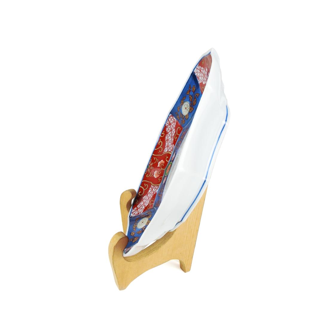 Dĩa Sứ Ngũ Sắc Vẽ Vàng Có Triện - Nhật - 22 x 3.5 cm - 533111