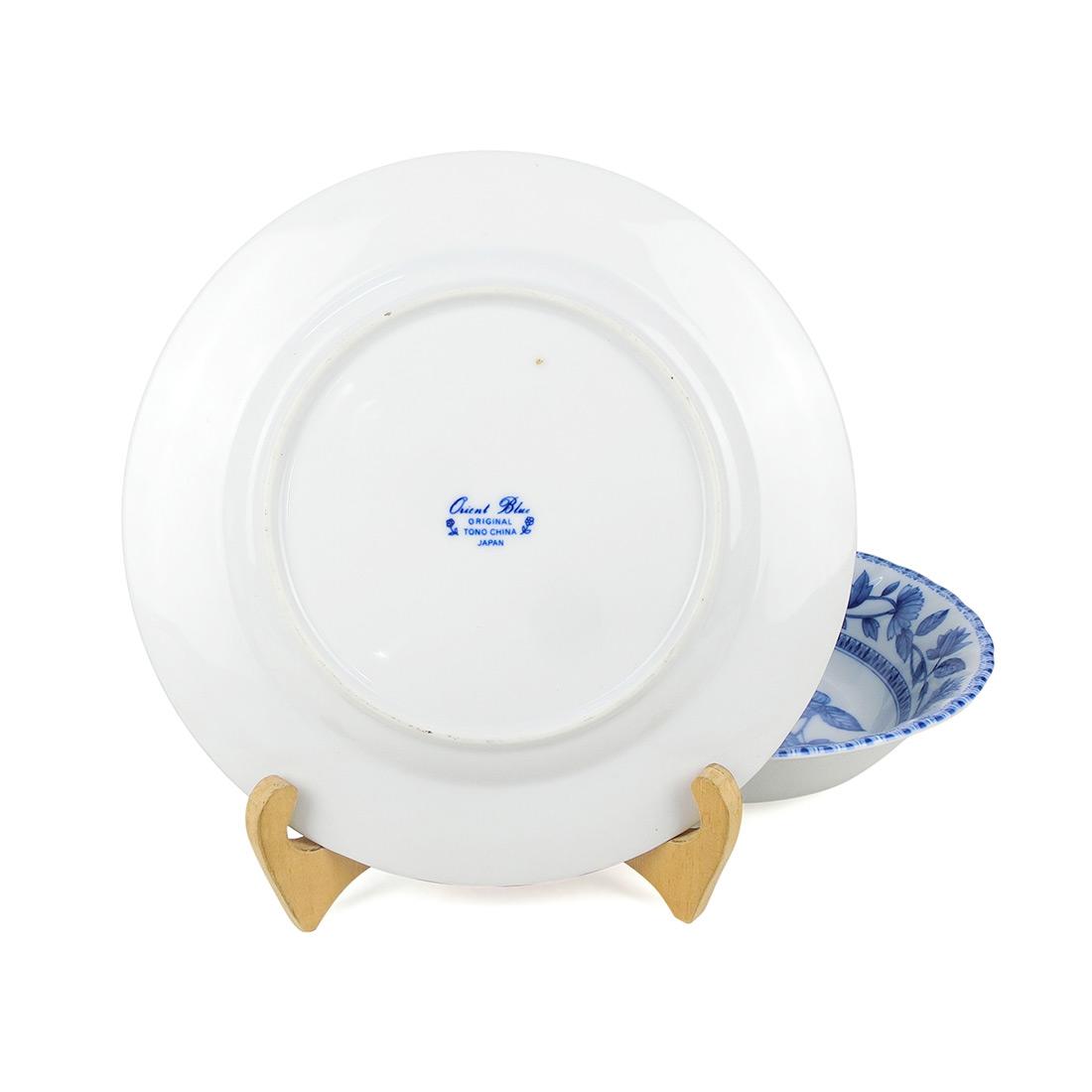 Bộ Tô Dĩa Sứ Hoa Men Lam Tono - Nhật - 423296