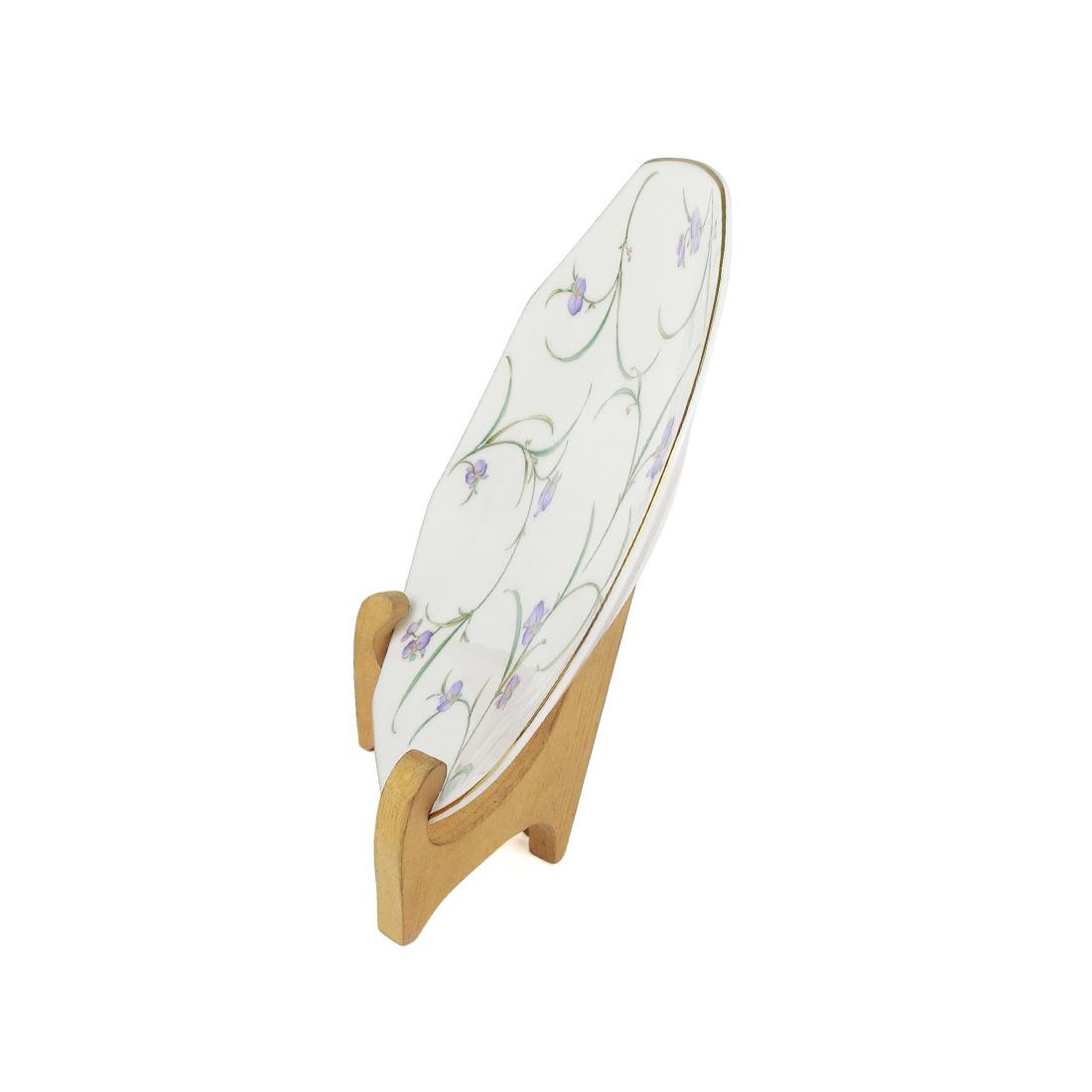 Dĩa Sứ Hoa Viền Vàng Có Triện - Nhật - 22.5 x 2.5 cm - 413299