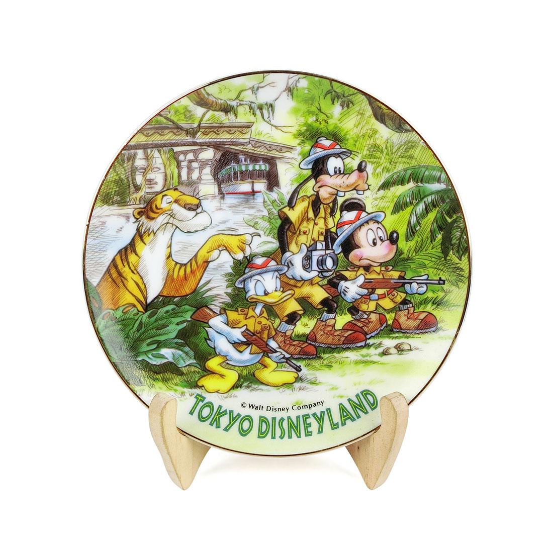 Dĩa Sứ Disney Land Tokyo Viền Vàng Disney - Nhật - 16 x 2 cm - 533455