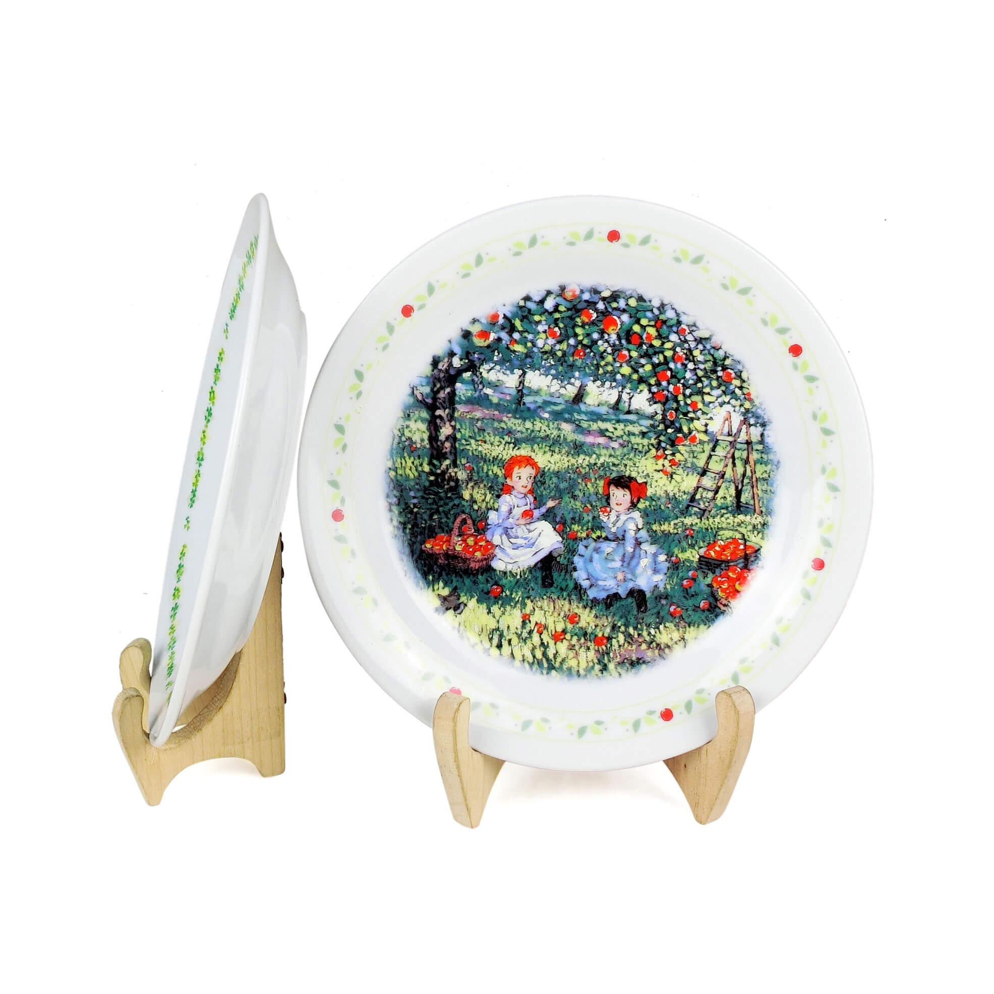 Cặp Dĩa Sứ Anne Of Green Gables Có Triện - Nhật - 18 x 2 cm - 533592