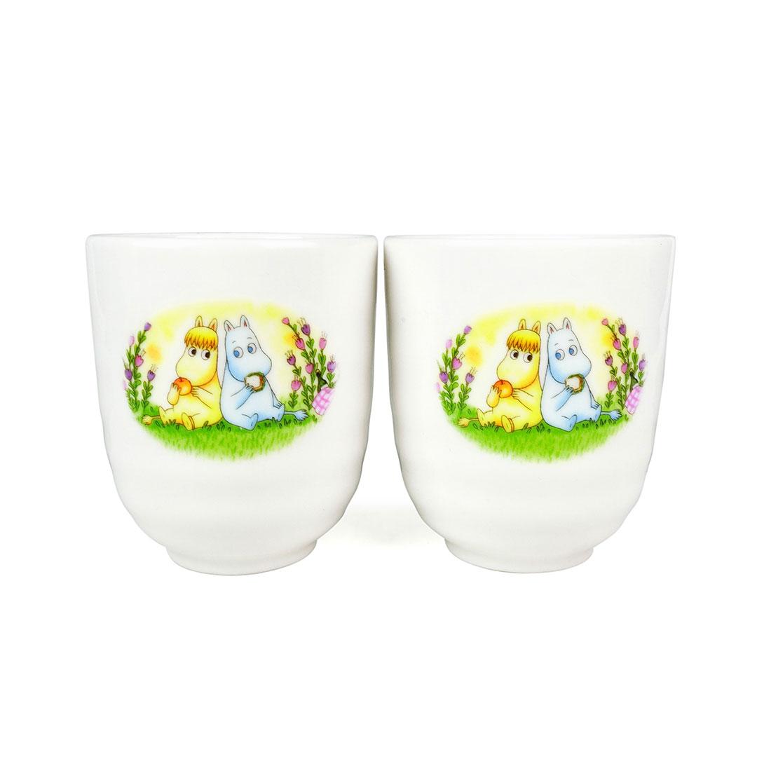 Cặp Ly Sứ Phu Thê Moominv Có Triện - Nhật - 7.5 x 8 cm - 123796