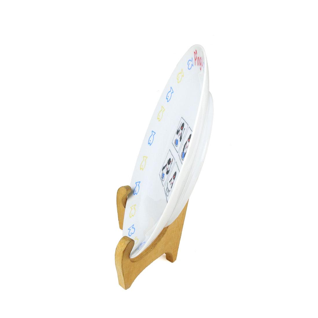 Dĩa Sứ Hình Chim Cánh Cụt Pingu Có Triện - Nhật - 24 x 3 cm - 413570